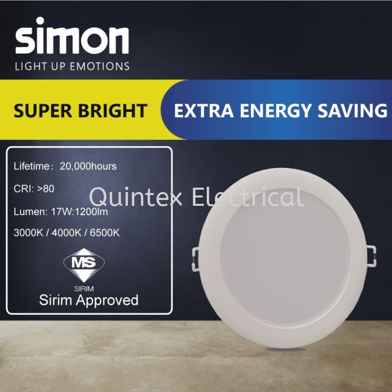 SIMON Valor LED Downlight 17 Watt (6inches)