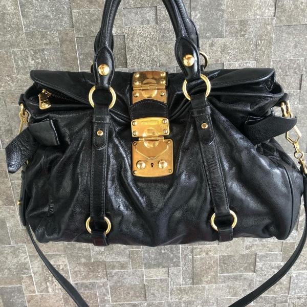 Miu Miu Classic Black Bow Bag with Long Strap Miu Miu Kuala Lumpur, KL, Selangor, Malaysia. Supplier, Retailer, Supplies, Supply | The Luxury Brand