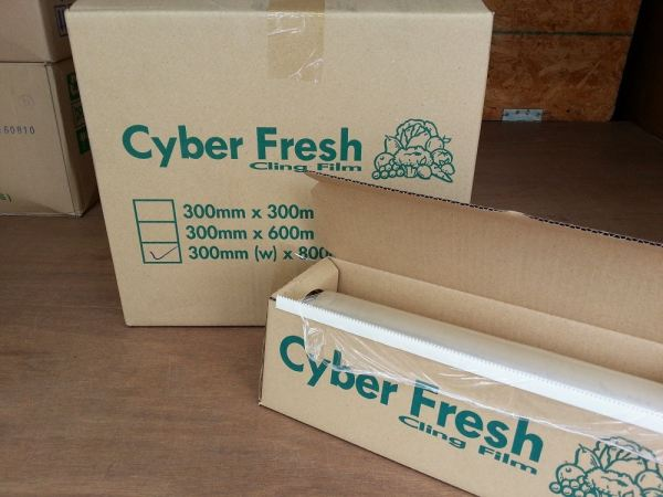CYBER FILM 300mm x 1.1kg M.o.q (6 rolls) FOOD WRAP ALUMINIUM FOIL AND FOOD WRAPPING Kuala Lumpur (KL), Malaysia, Selangor, Kepong Supplier, Suppliers, Supply, Supplies | RS Peck Trading