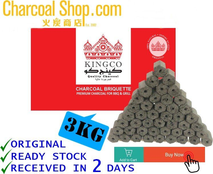 CHARCOAL ARANG 諮命 (Charcoal Briquette - 3kgs)