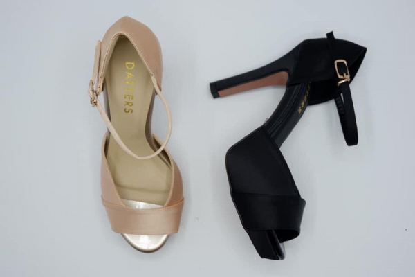 Black & Beige Color Stella Silk  Sling Back Ready Made Shoes Johor Bahru (JB), Malaysia, Southkey Supplier, Suppliers, Supply, Supplies | Datters Enterprise Sdn Bhd