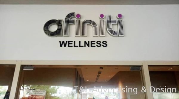 Afiniti Wellness Stainless Steel with 10mm black acrylic Stainless Steel Box Up Johor Bahru (JB), Malaysia, Skudai Supplier, Supply, Design, Install | T & L Advertising & Design