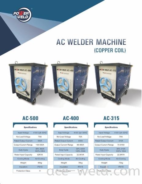 Powerweld AC Welder Machine AC Machine Machine & Spareparts Selangor, Malaysia, Kuala Lumpur (KL), Puchong Supplier, Suppliers, Supply, Supplies | ACE Weld Sdn Bhd