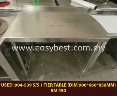 USED :904-539 S/S 1 TIER TABLE