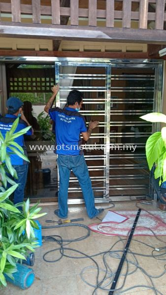 SSD022 Stainless Steel Door Johor Bahru (JB), Skudai  Design, Supplier, Supply | OTS Metal Works