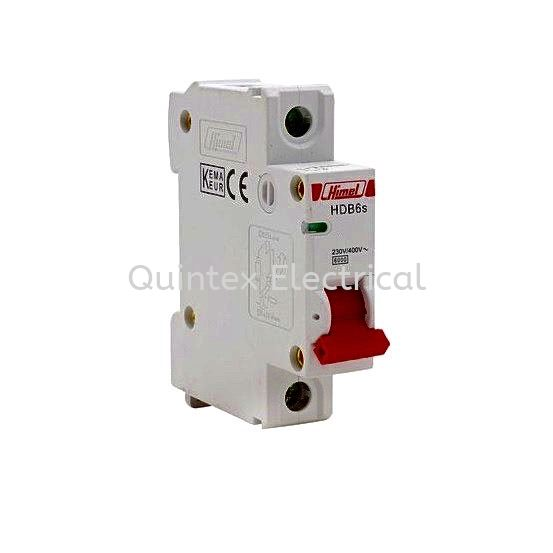 HIMEL HDB6s 1P MCB (Miniature Circuit Breaker) RCBO HIMEL MCB Selangor, Malaysia, Kuala Lumpur (KL), Shah Alam Supplier, Suppliers, Supply, Supplies | Quintex Electrical Engineering & Trading