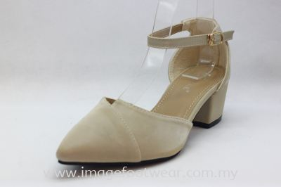 Lady Fashion Pointy Shoe with 2 Inch Heel - TF-406-109-APRICOT Colour
