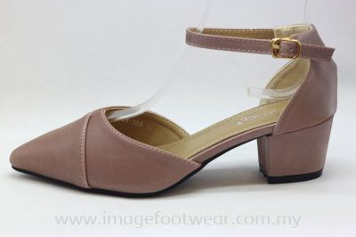 Lady Fashion Pointy Shoe with 2 Inch Heel - TF-406-109-PINK Colour