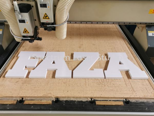 PVC WHITE FORM LETTERING Router Cutting Kuala Lumpur (KL), Malaysia, Selangor, Kepong Services   Spectrum Laser Studio