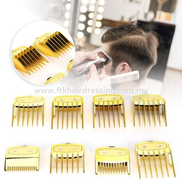 Wahl 8 in 1 Attachment Combs (Gold) Wahl Attachment Malaysia, Pahang Supplier, Suppliers, Supply, Supplies | FTK MAJU TRADING (M) SDN BHD