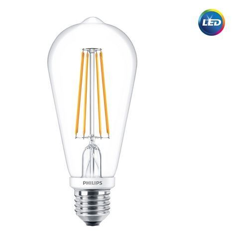 PHILIPS LED CLASSIC DIMMABLE BULB 7-70w/806lm G93 ST64 2700K WARMWHITE