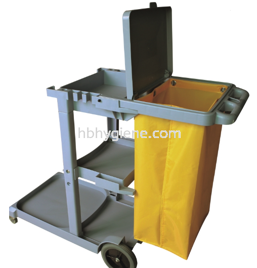 JT 1000 - JANITOR CART TROLLEY C/W COVER House keeping Trolley Pontian, Johor Bahru(JB), Malaysia Suppliers, Supplier, Supply | HB Hygiene Sdn Bhd