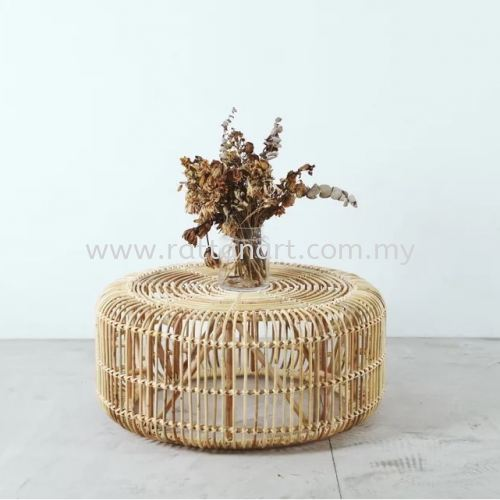 RATTAN COFFEE TABLE DONUT
