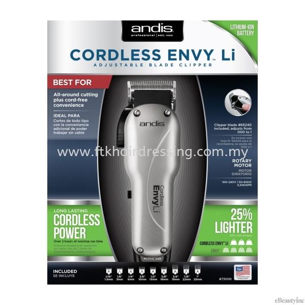 Andis Professional Cordless Envy Li Adjustable Blade Hair Clipper Andis Clipper Malaysia, Pahang Supplier, Suppliers, Supply, Supplies | FTK MAJU TRADING (M) SDN BHD