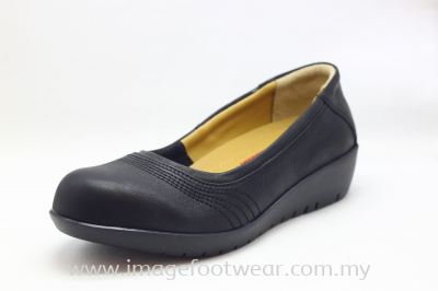 EXPRESS POLO Full Leather Ladies Shoe- LL-90468- BLACK Colour
