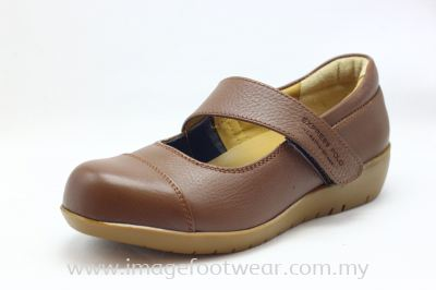 EXPRESS POLO Full Leather Ladies Shoe- LL-90466- LIGHT BROWN Colour