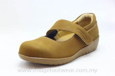 EXPRESS POLO Full Leather Ladies Shoe- LL-90471- WHISKY Colour