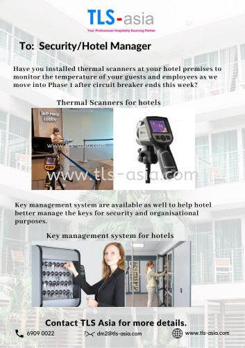 Thermal Scanner/ Temperature Monitoring System for hotel & office lobbies ONLY SGD7000 PER SET