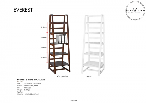 Everest 5 Tiers Bookcase Study Room Furniture Johor, Malaysia, Kluang Supplier, Suppliers, Supply, Supplies   V Creation Design & Furniture Sdn Bhd