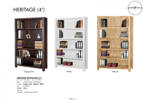 Heritage Bookcase (4') Study Room Furniture Johor, Malaysia, Kluang Supplier, Suppliers, Supply, Supplies | V Creation Design & Furniture Sdn Bhd
