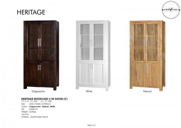 Heritage Bookcase C/W Door (3') Study Room Furniture Johor, Malaysia, Kluang Supplier, Suppliers, Supply, Supplies | V Creation Design & Furniture Sdn Bhd