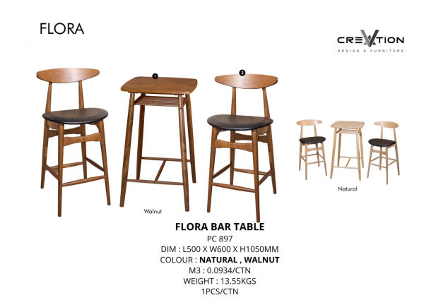 Flora Bar Table Bar Counter & Bar Chair Living Hall Furniture Johor, Malaysia, Kluang Supplier, Suppliers, Supply, Supplies | V Creation Design & Furniture Sdn Bhd