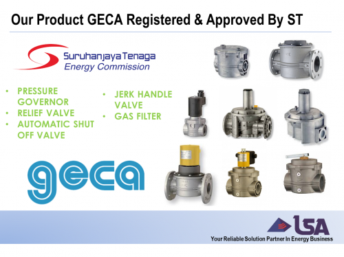 Our Product Geca From Italy Now Registered and Approved By Energy Commission (Suruhanjaya Tenaga)