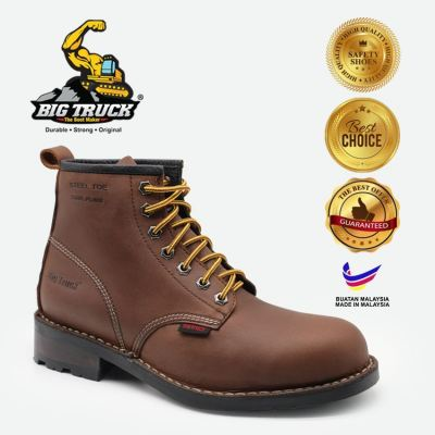 BIG TRUCK MENS SAFETY BOOTS / MID CUT LACE UP CW 8002