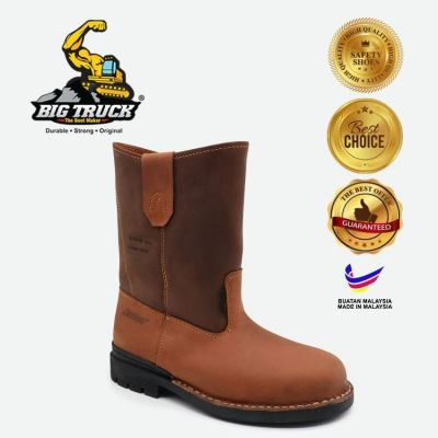 """BIG TRUCK MEN'S SAFETY BOOTS 8"""" PULL ON SS8018"""