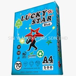 A4 70G LUCKY STAR BLUE  500'S A4 COPIER PAPER LUCKY STAR PHOTOCOPY PAPER Kuala Lumpur (KL), Malaysia, Selangor Supplier, Suppliers, Supply, Supplies | SIN YI MARKETING SDN BHD