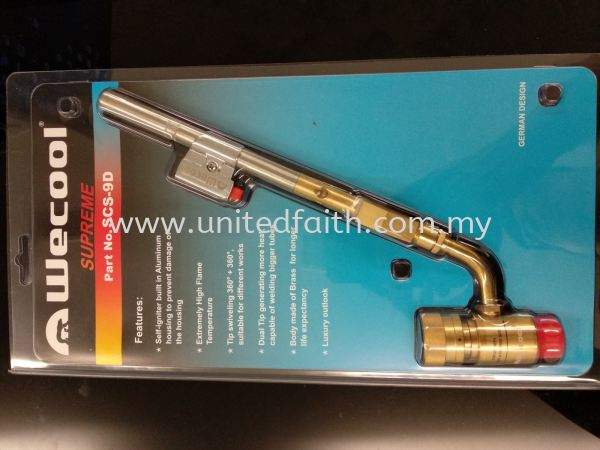 WECOOL TORCH DOUBLE ELECTRONIC SCS-9D Wecool Brazing Equipment & Accessories Selangor, Puchong, Malaysia, Singapore, Kuala Lumpur (KL), Pandan Jaya Supplier, Suppliers, Supply, Supplies | United Faith Sdn Bhd