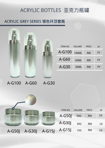 ACRYLIC BOTTLE SERIES Cosmetic Bottle Malaysia, Johor Bahru (JB) Supply Suppliers Supplies | Mee Teck Beauty Sdn. Bhd.