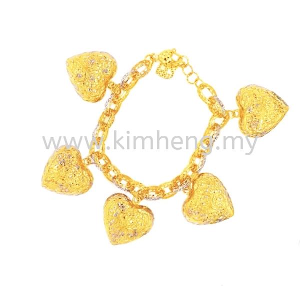 Big Heart ( 32.82 g) 15gm above 916 GOLD (22K) Bracelet Johor, Muar, Malaysia, Melaka Supplier, Suppliers, Supply, Supplies | Kim Heng G & J Sdn Bhd