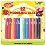 12 STICKS MODELLING CLAY IN BLISTER CARD