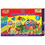 10 CANDY MODELLING CLAY WITH 4 MOLDS IN PRINTED BOX