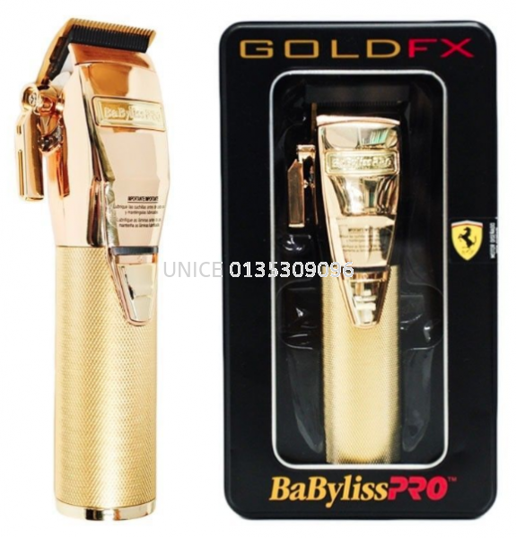 BaByliss PRO GoldFX Cordless Clipper FX870 Gold Babyliss Professional Hair Clipper, Trimmers & Shavers BARBER & SALON TOOLS Johor Bahru JB Malaysia Supplier & Wholesaler | UNICE MARKETING SDN BHD