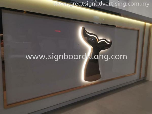 ºÚ¾¨ The Black Whale Petaling Jaya STAINLESS STEEL GOLD 3D LED BACKLIT SIGNAGE Selangor, Malaysia, Kuala Lumpur (KL), Klang Manufacturer, Maker, Installation, Supplier | Great Sign Advertising (M) Sdn Bhd