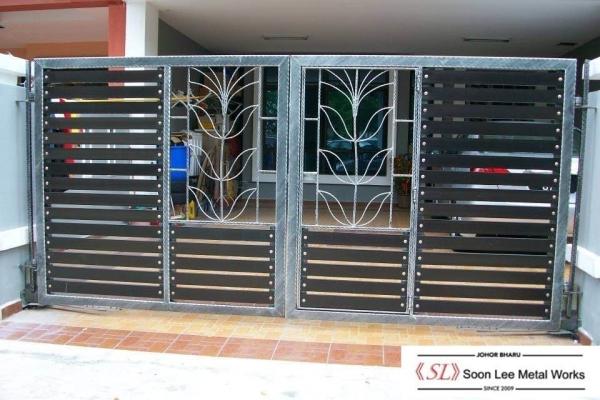 Metal Main Gate Metal Main Gate Johor Bahru (JB), Malaysia, Ulu Tiram Supplier, Suppliers, Supply, Supplies | Soon Lee Steel & Iron Works Sdn Bhd
