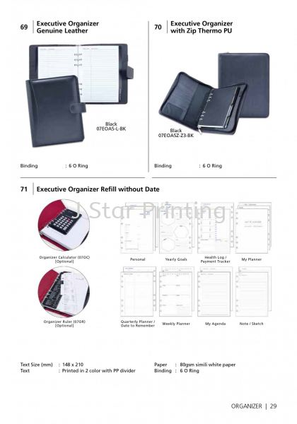 Organizer Genuine Leather Diary & Organizer Premium Gift Products Puchong, Selangor, Malaysia, Kuala Lumpur (KL) Supplier, Suppliers, Supply, Supplies | J Star Printing