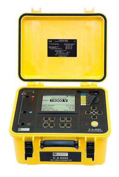 10 kV and 15 Kv - C.A 6555 Insulation testers Chauvin Arnoux  Test and Measuring Instruments Malaysia, Selangor, Kuala Lumpur (KL), Kajang Manufacturer, Supplier, Supply, Supplies | United Integration Technology Sdn Bhd