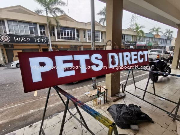 Pets direct 3D LED channel box up lettering signage at subang mydin  3D LED SIGNAGE Selangor, Malaysia Supply, Manufacturers, Printing | Great Sign Advertising (M) Sdn Bhd