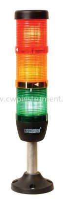 EMAS IK53L024ZM03 LED SIGNAL TOWER 3-WAY WITH BUZZER 24 V DC/AC