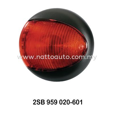 HELLA EuroLED Rear Direction Indicator Lamp Red -Black Cover 2SB 959 821-601