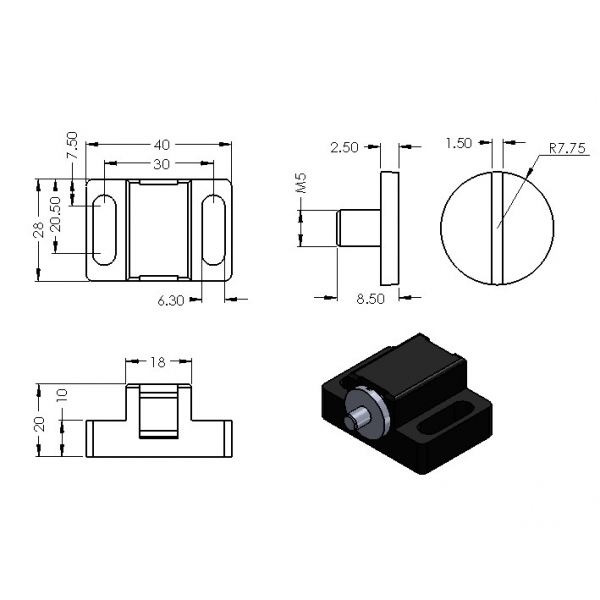 CP-MGL-8 MAGNETIC LOCK ACCESSORIES Malaysia, Selangor, Kuala Lumpur (KL), Puchong Supplier, Suppliers, Supply, Supplies   Compact MT Engineering Sdn Bhd