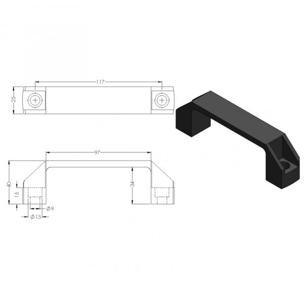 CP-HANDLE-B UNIVERSAL HANDLE ACCESSORIES Malaysia, Selangor, Kuala Lumpur (KL), Puchong Supplier, Suppliers, Supply, Supplies | Compact MT Engineering Sdn Bhd