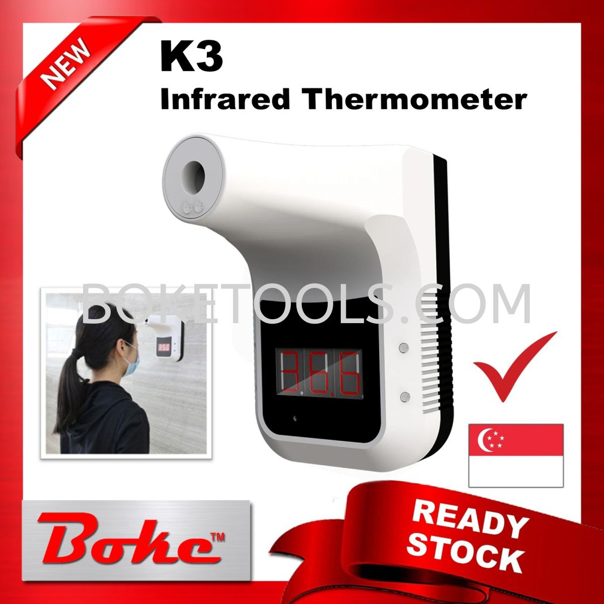 K3 Infrared Thermometer COVID-19 Product Singapore, Ang Mo Kio. Supplier, Supply, Manufacturer, Wholesaler, Rental | Boke Tools Machinery Pte Ltd