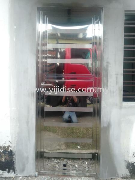 Back Door Door Stainless Steel Works Johor Bahru (JB), Malaysia, Skudai, Taman Pelangi Service, Contractor | Yijia Iron Steel Engineering Sdn Bhd