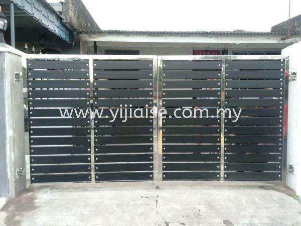 Open Gate Main Gate Stainless Steel Works Johor Bahru (JB), Malaysia, Skudai, Taman Pelangi Service, Contractor | Yijia Iron Steel Engineering Sdn Bhd