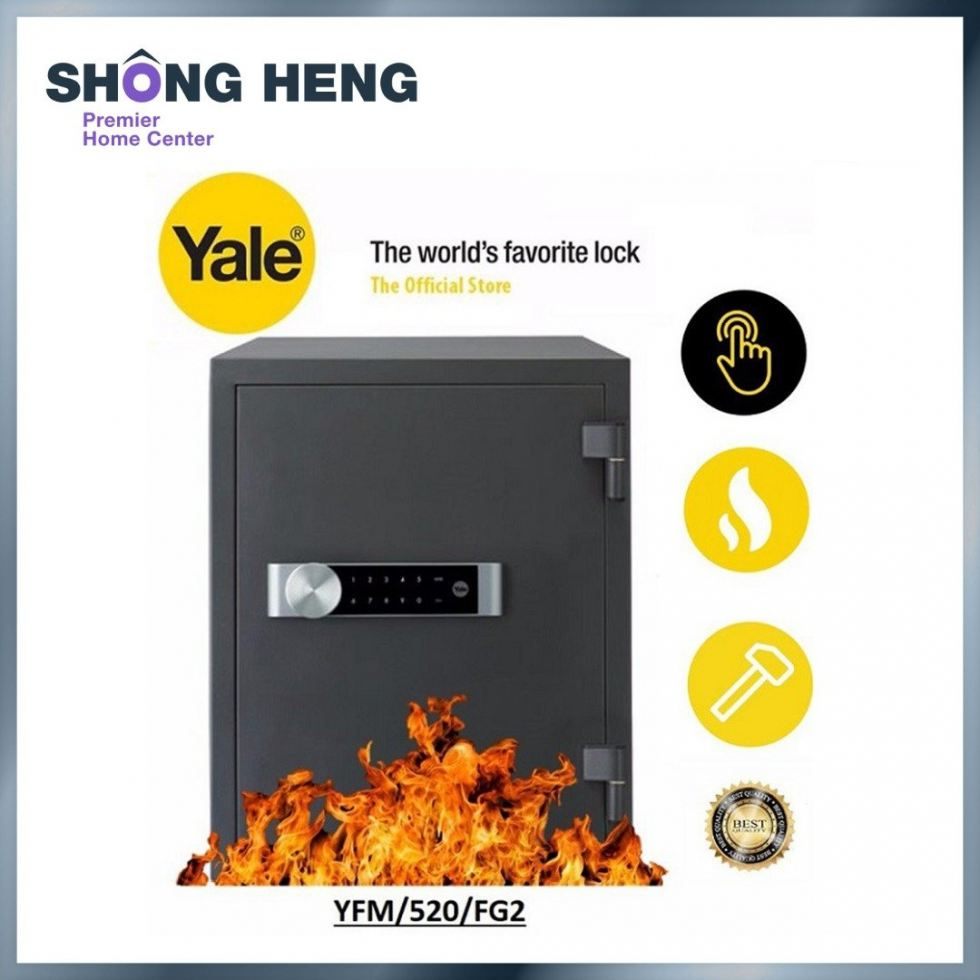 YALE Electronic Document Fire Safe Box Professional YFM/520/FG2
