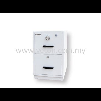 2 DRAWERS FIRE RESISTANT CABINET - INDIVIDUAL LOCKING